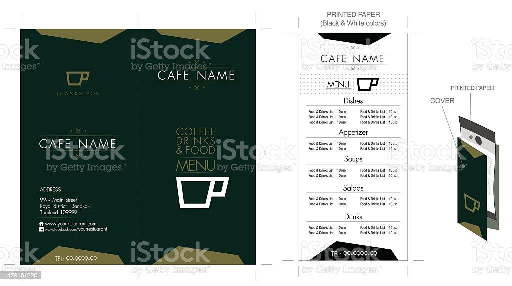 Restaurant & Café-Menü-design – Vektorgrafik