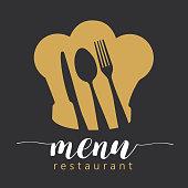Restaurant cafe menu, template design or logo. Vector illustration, Restaurant cafe menu, template design or logo. Vector illustration