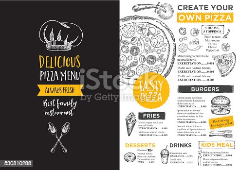 istock Restaurant cafe menu, template design. 530810288