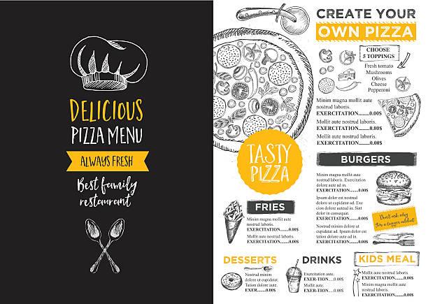 Restaurant cafe menu, template design. vector art illustration