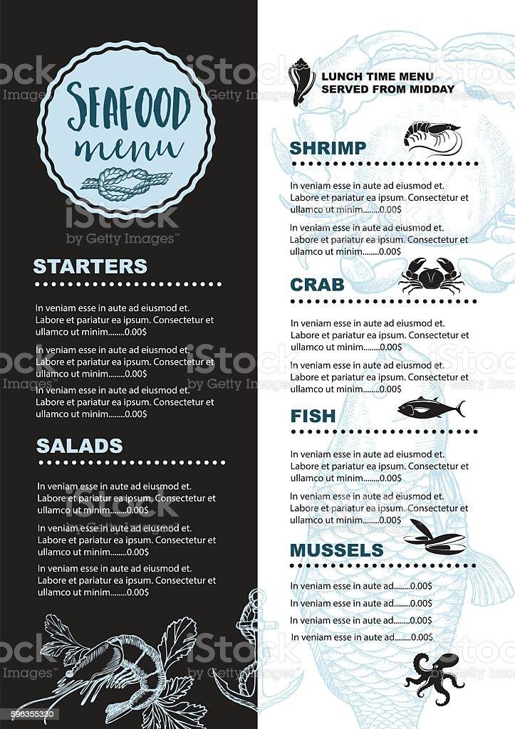 Restaurant cafe menu, template design. royalty-free restaurant cafe menu template design stock vector art & more images of anchor - vessel part