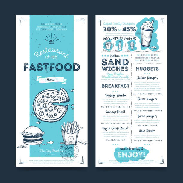 Restaurant cafe menu template design, vector – Vektorgrafik