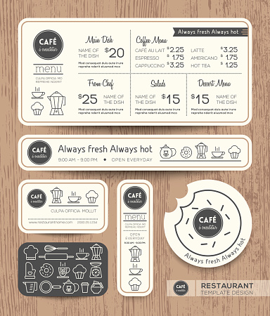 Restaurant Cafe Set Menu Graphic Design Template