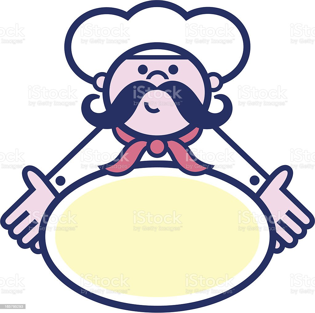 restaurant chef icon vector art illustration