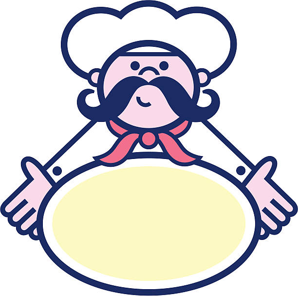 restaurant chef icon - peter bajohr stock illustrations
