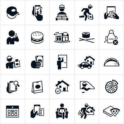 Restaurant Delivery Icons