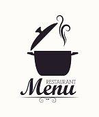 Restaurant design over white background, vector illustration