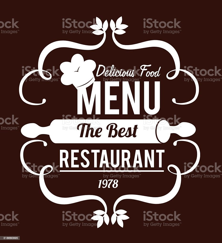 Restaurant design vector art illustration