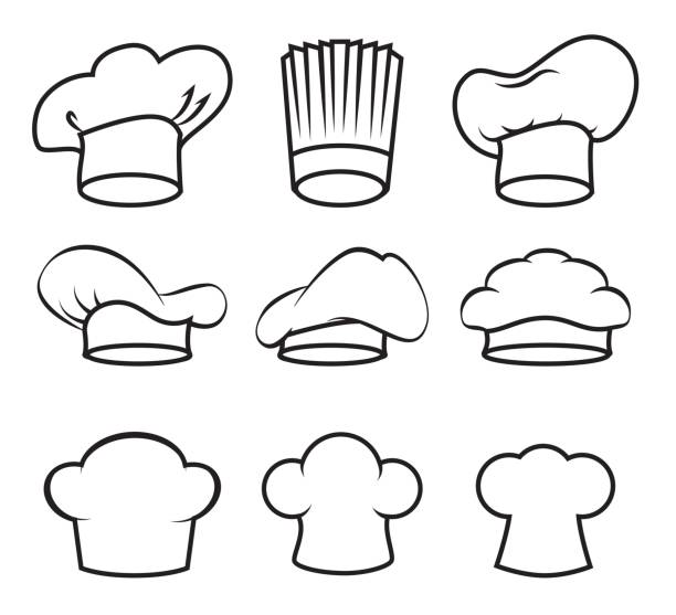 Restaurant design, vector illustration Restaurant design over white background, vector illustration. chef's hat stock illustrations