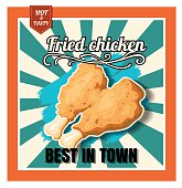 Restaurant Fast Foods menu fried chicken on beautiful background