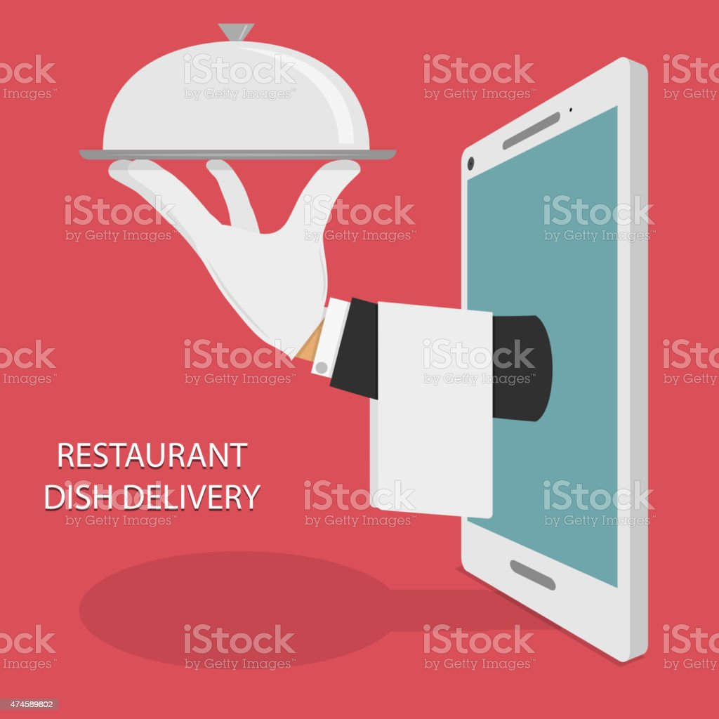 Restaurant Food Delivery Concept Illustration. vector art illustration
