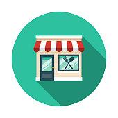 istock Restaurant Food Delivery Icon 1190040698