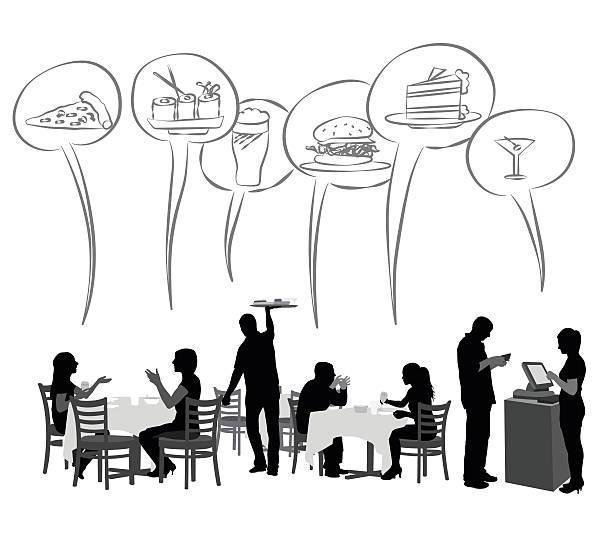 illustrazioni stock, clip art, cartoni animati e icone di tendenza di ristorante cibi preferiti - organizzatore della festa