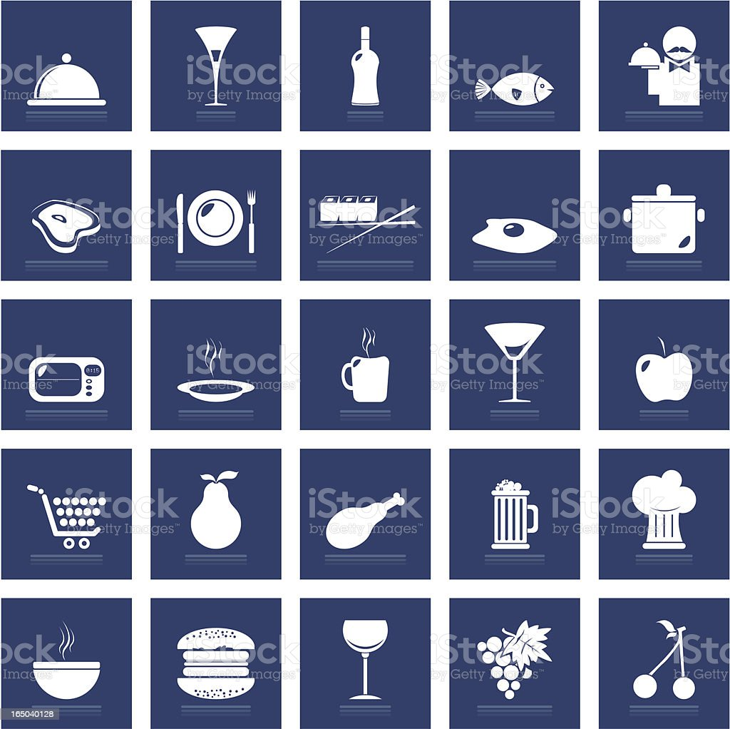 Restaurant & Food Icon Set royalty-free restaurant food icon set stock vector art & more images of alcohol