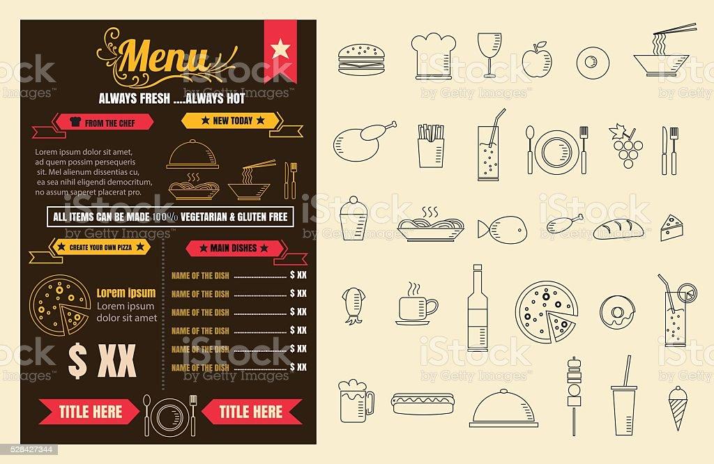 レストランメニューデザインと黒板の背景ベクトル fo