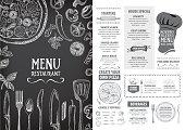 Restaurant food menu.