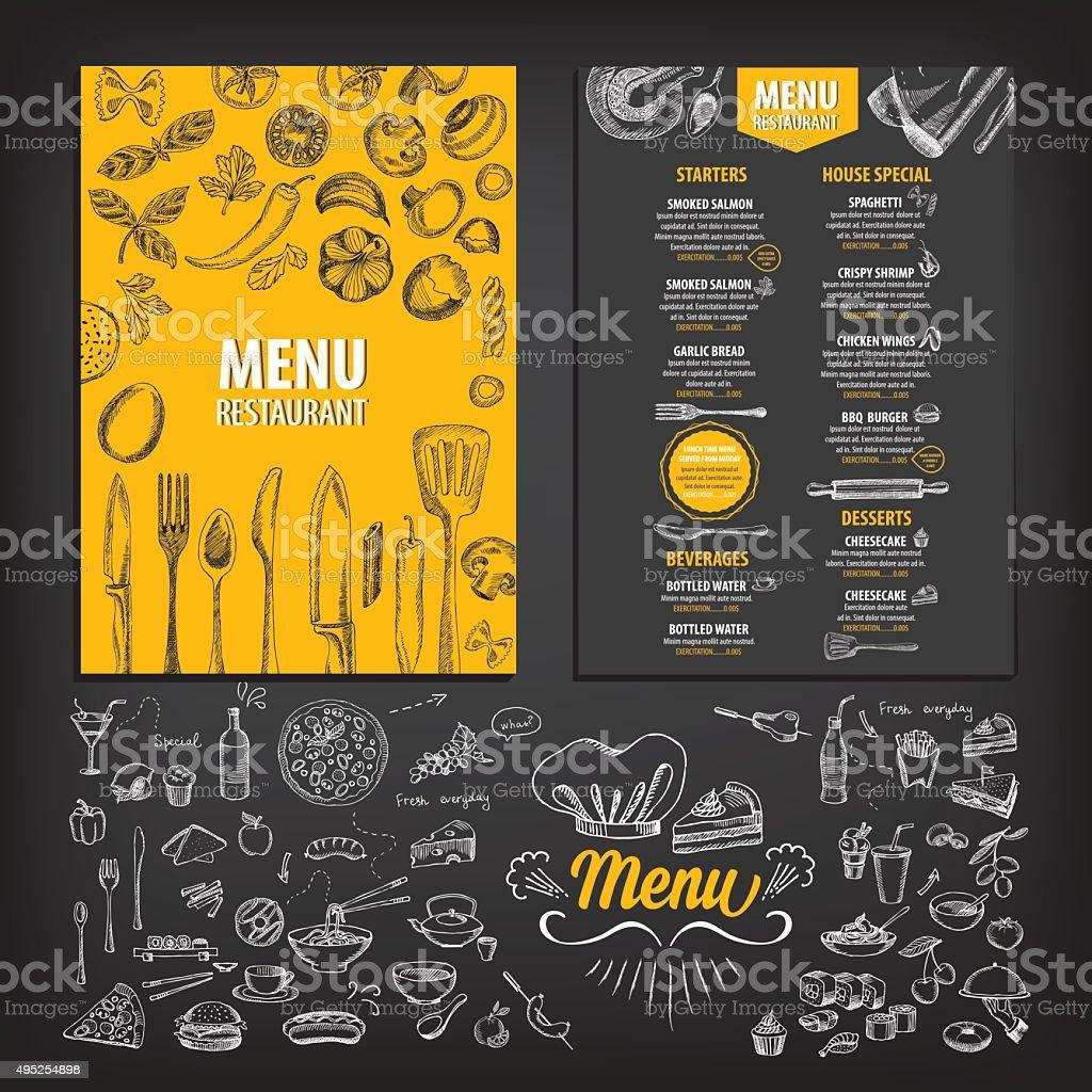 Restaurant food menu. royalty-free restaurant food menu stock illustration - download image now
