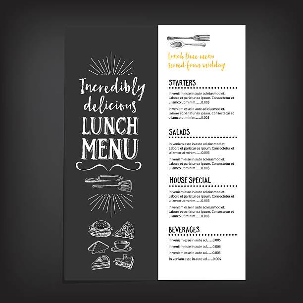 Restaurant food menu. vector art illustration