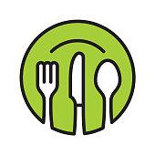 istock Restaurant icon 1038356020