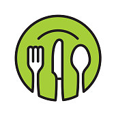 Restaurant line icon. Files included: Vector EPS 10, HD JPEG 4000 x 4000 px