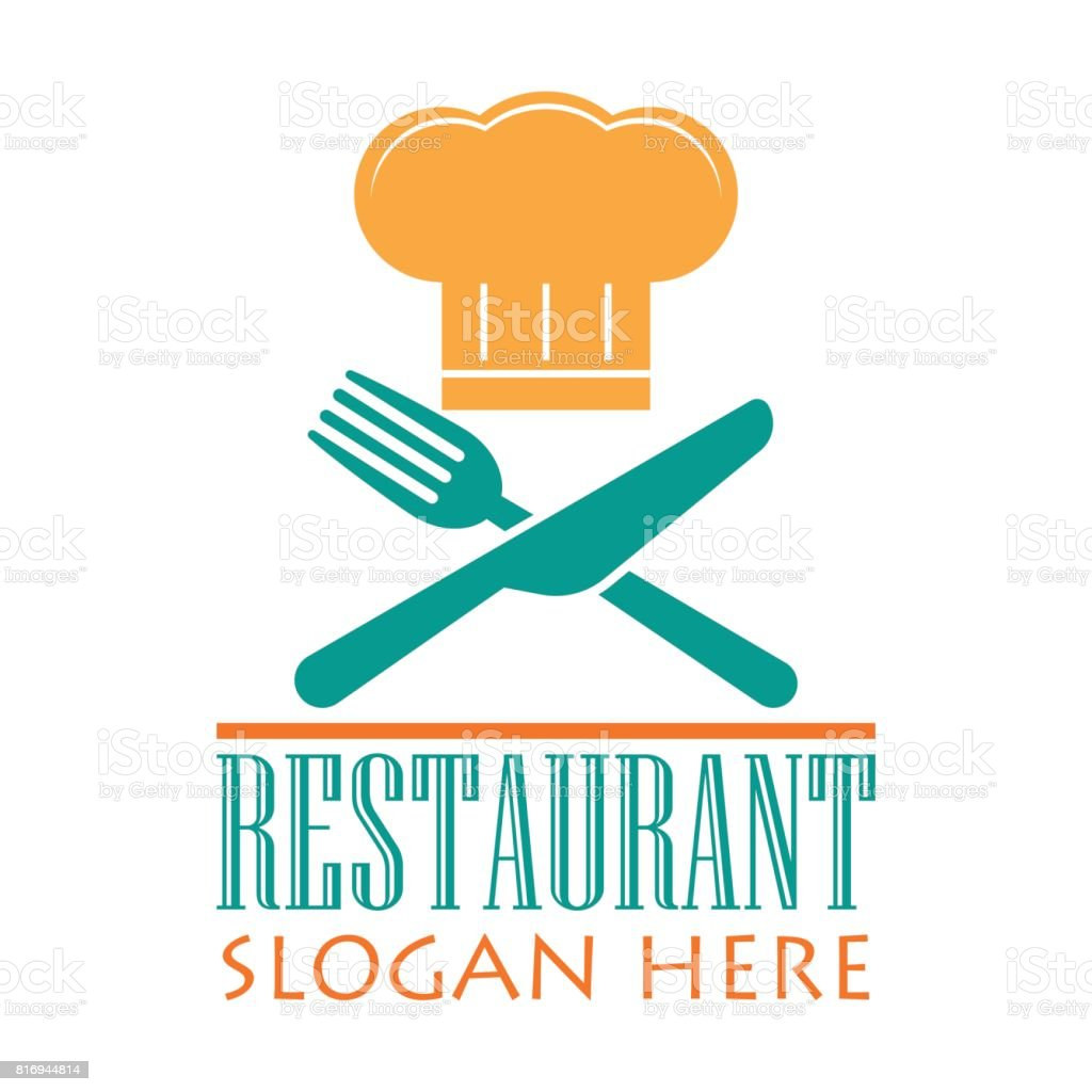 Restaurant Icon With Text Space For Your Slogan Tag Line
