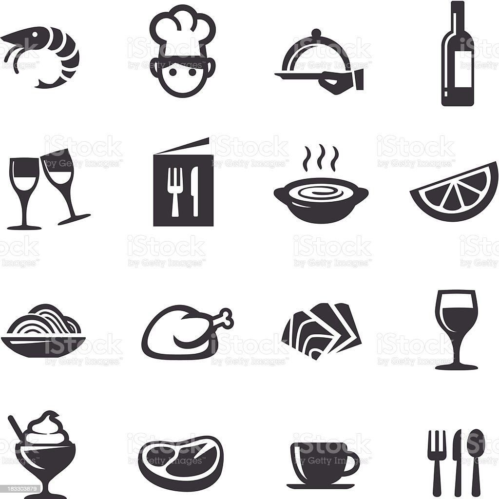 Restaurant Icons - Acme Series vector art illustration