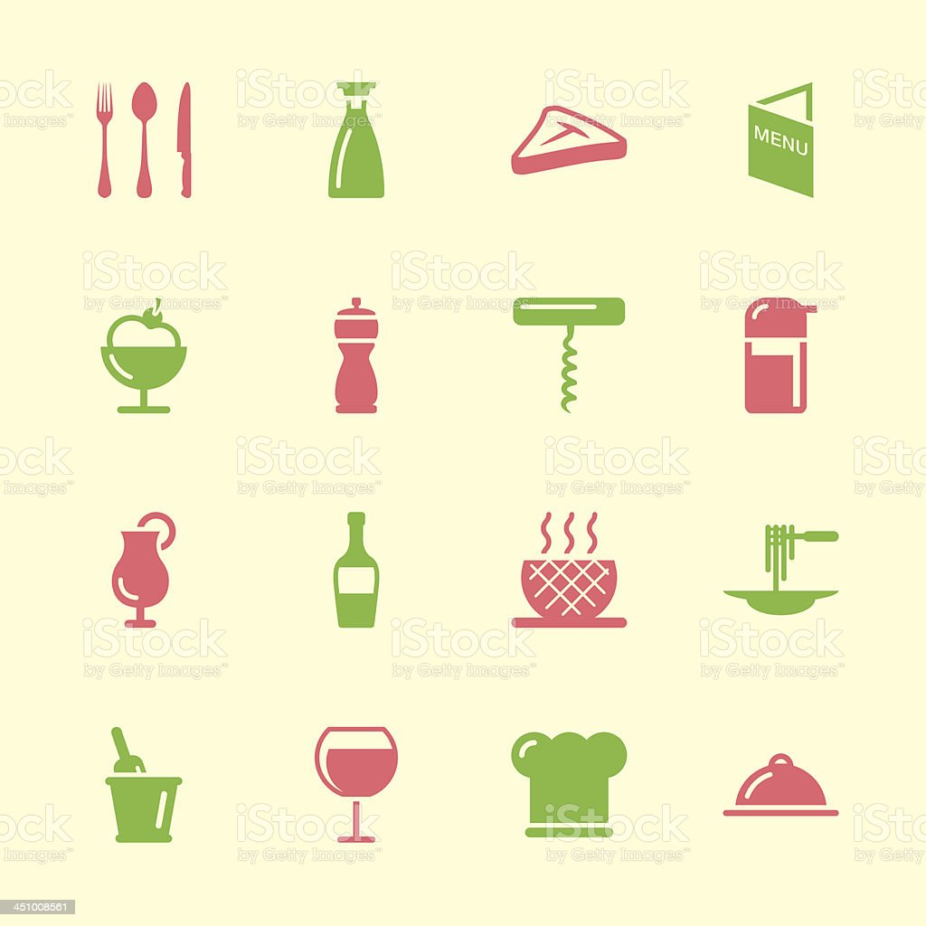 Restaurant Icons - Color Series | EPS10 royalty-free stock vector art