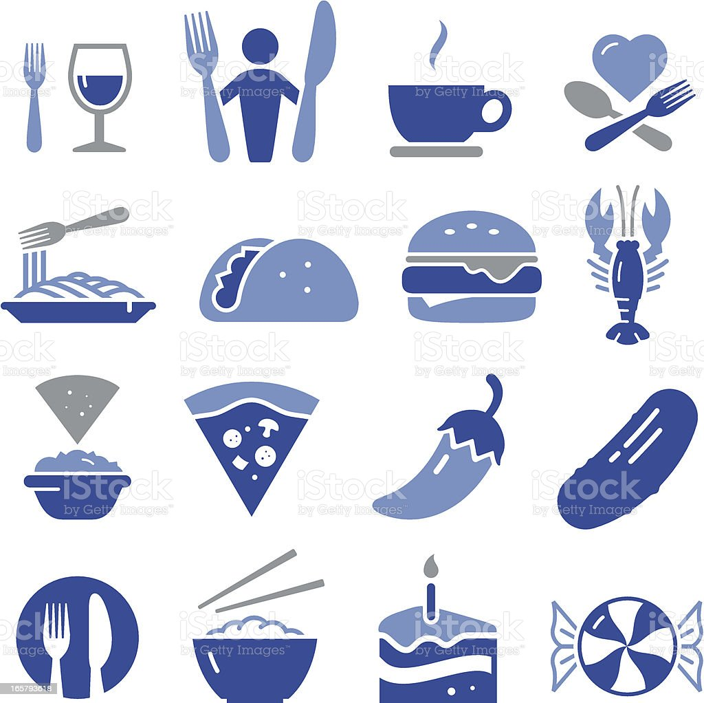Restaurant Icons - Pro Series royalty-free stock vector art