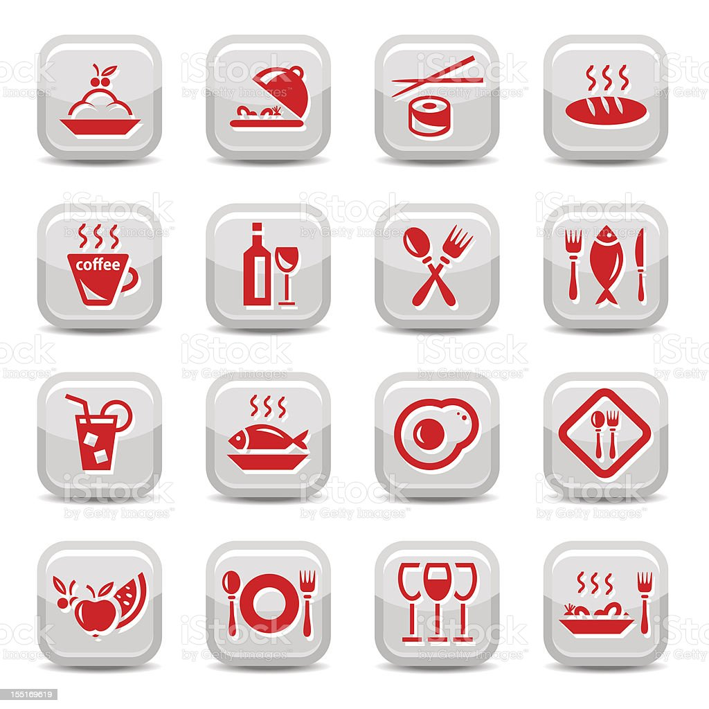 restaurant icons set royalty-free restaurant icons set stock vector art & more images of american culture