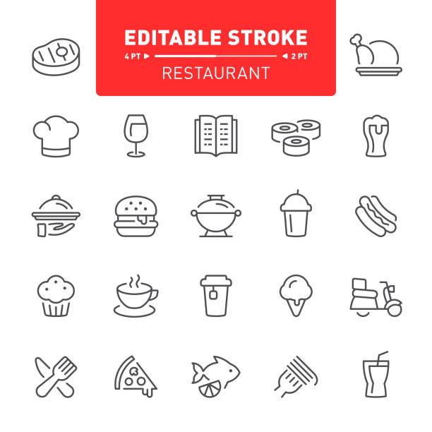 restaurant icons - coffee stock illustrations, clip art, cartoons, & icons