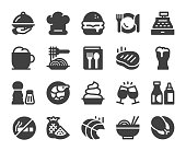 Restaurant Icons Vector EPS File.
