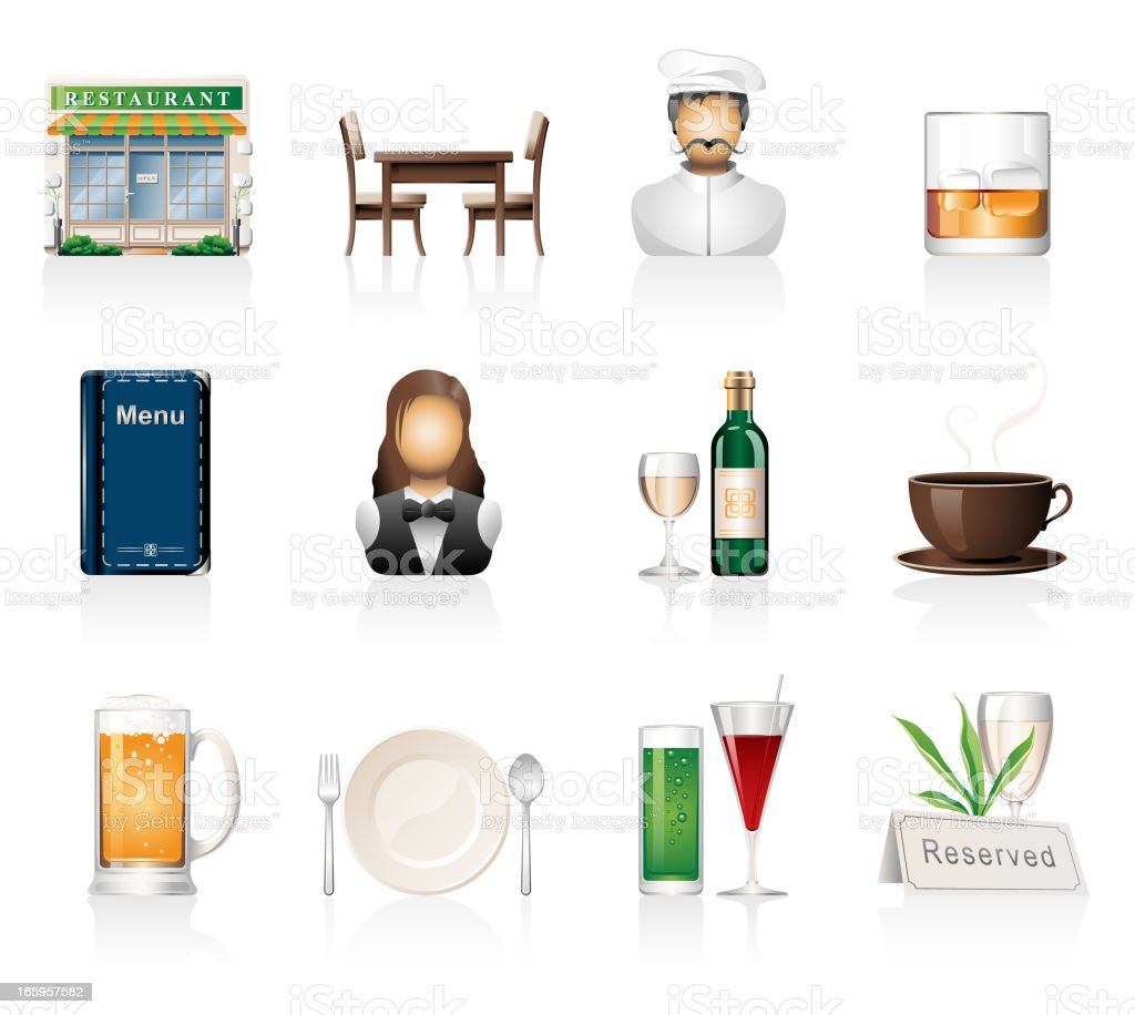 Restaurant Icons royalty-free stock vector art