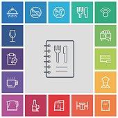 Restaurant icons,vector illustration.