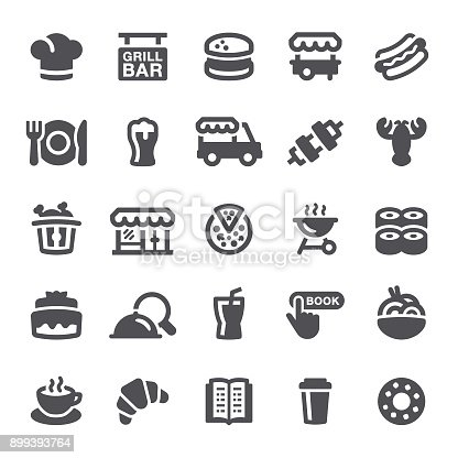 Food, restaurant, icons, drink, pizza, dinner