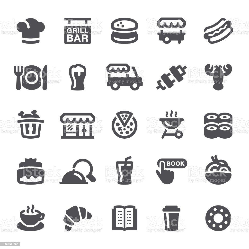 Restaurant Icons vector art illustration