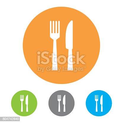 istock Restaurant Icons. Vector 504742640