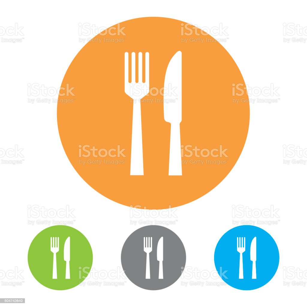 Restaurant Icons. Vector vector art illustration