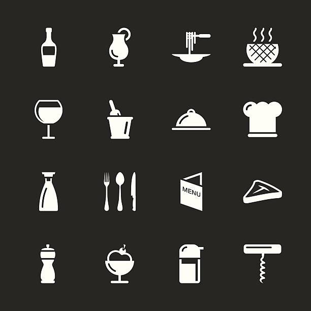 Restaurant Icons - White Series | EPS10 vector art illustration