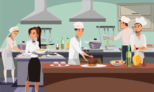Food production stock illustrations