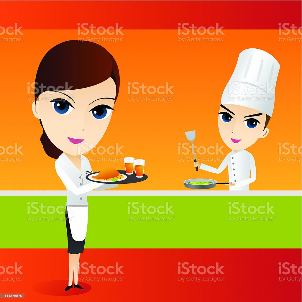 Restaurant Kitchen royalty-free stock vector art