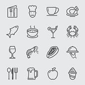 Restaurant line icon