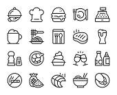 Restaurant Line Icons Vector EPS File.