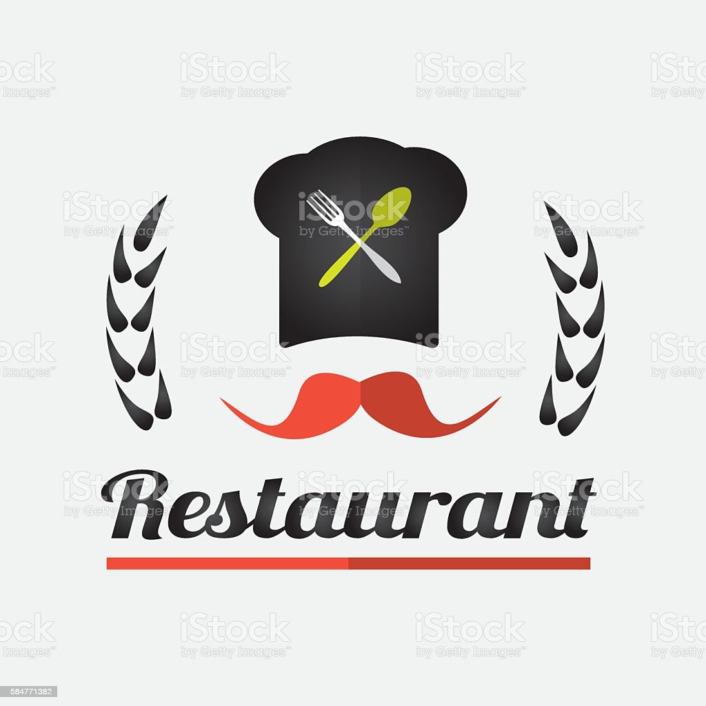 Restaurant logo design stock vector art more images of