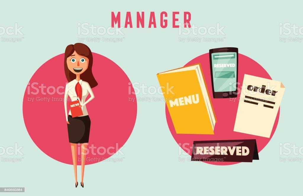 restaurant manager clipart