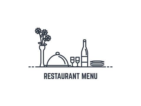 Restaurant menu banner