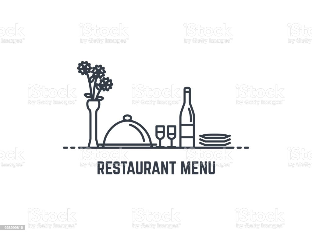 Restaurant menu banner vector art illustration