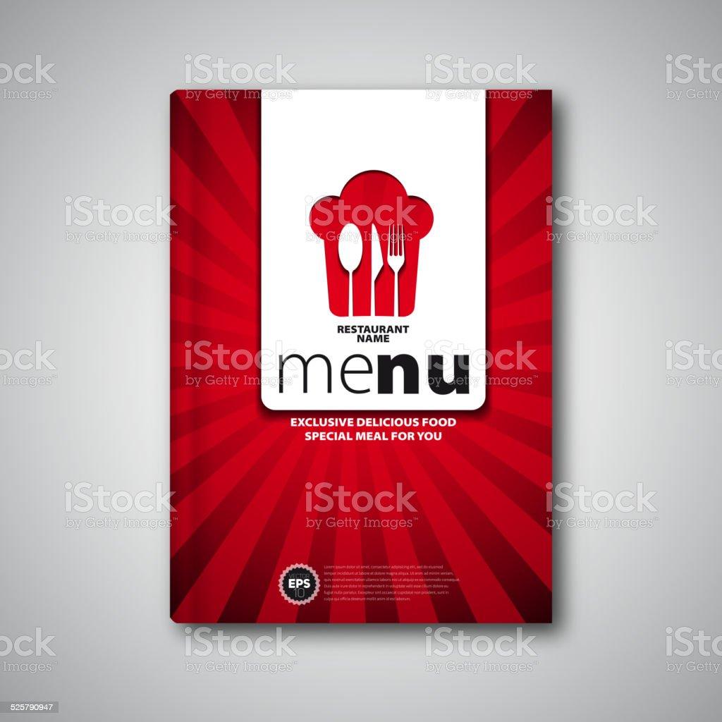 Plantilla De Diseño De Tarjeta De Menú De Restaurante Portada De ...