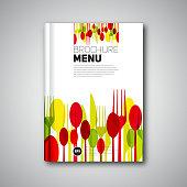 Restaurant Menu Card Design template, Brochure book cover design