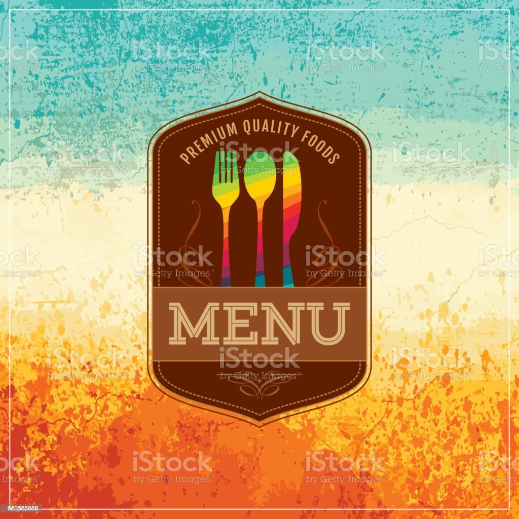 Restaurant menu card design. vector art illustration