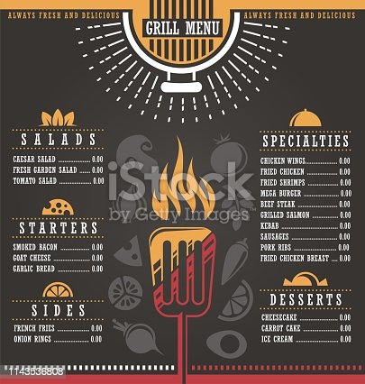 Restaurant menu cover design template